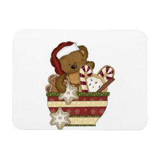 Sweet Christmas Bear Rectangular Photo Magnet