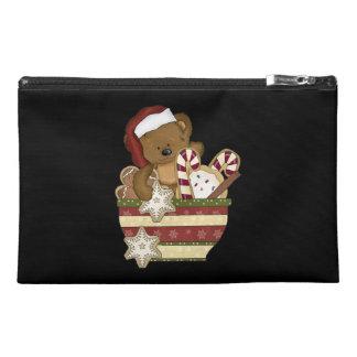 Sweet Christmas Bear Travel Accessory Bag
