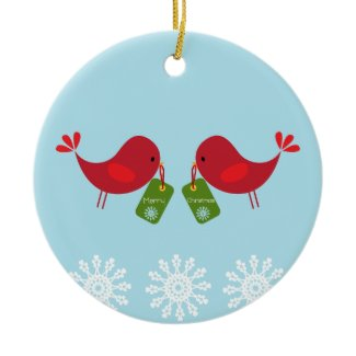 Sweet Christmas Birds - Ornament ornament