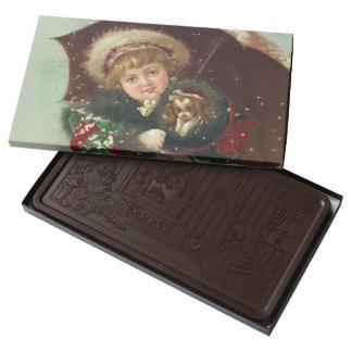 Sweet Christmas Chocolate Bar 2 Pound Dark Chocolate Bar Box