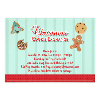 Sweet Christmas Cookie Exchange Party Custom Invite
