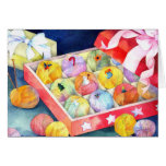 Sweet Christmas Gift Box Holiday Greeting Cards
