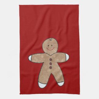 Sweet Christmas Gingerbread Cookies Hand Towel