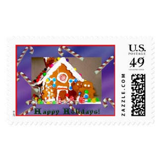 Sweet Christmas, Happy Holidays! Postage Stamps
