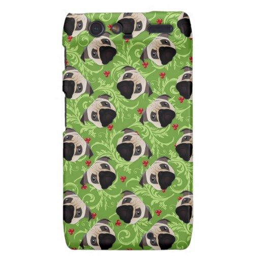 Sweet Christmas Pug Merry Mistletoe Motorola Droid RAZR Case
