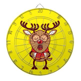 Sweet Christmas reindeer singing Dartboards