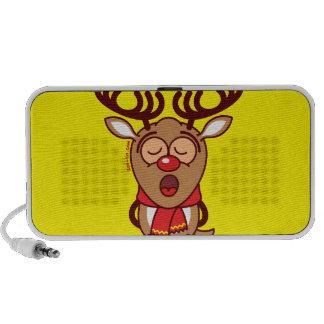 Sweet Christmas reindeer singing Laptop Speaker