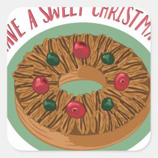 Sweet Christmas Square Sticker