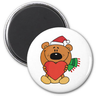 Sweet Christmas Teddy Bear Magnet