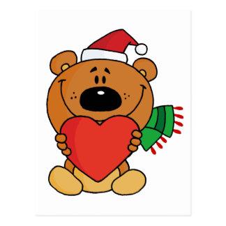 Sweet Christmas Teddy Bear Postcard