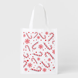 Sweet Christmassy Candy Bar Pattern Reusable Grocery Bag