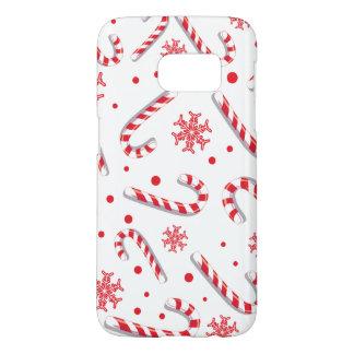 Sweet Christmassy Candy Bar Pattern Samsung Galaxy S7 Case