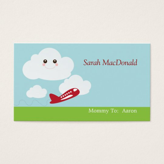 Sweet Cloud/Plane Mommy Calling Card