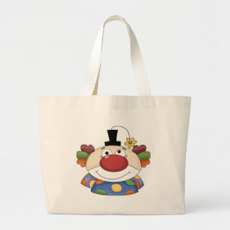 Sweet Clown Face Large Tote Bag
