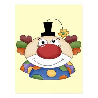 Sweet Clown Face Postcard