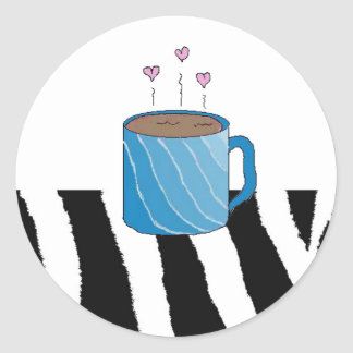 Sweet Coffee Classic Round Sticker