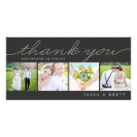 Sweet Collage Wedding Thank You Cards - Charcoal Customized Photo Card
