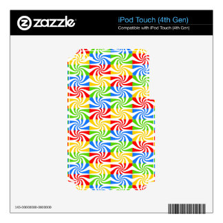 Sweet Colorful Abstract Image Skin For iPod Touch 4G