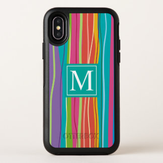 Sweet Colorful Abstract Monogram | iPhone X Case