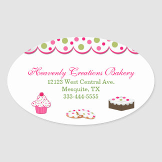 Sweet Colorful Bakery Stickers