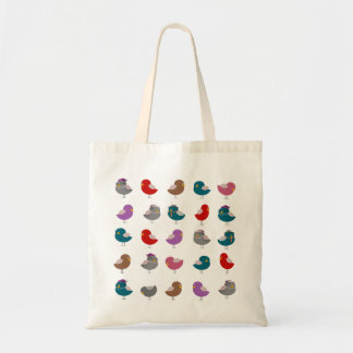 Sweet Colorful Birds Tote Bag