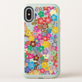 Sweet Colorful Flower Design iPhone X Case