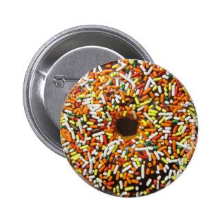 Sweet Colorful Sprinkles Donut Doughnut Humor Pinback Button