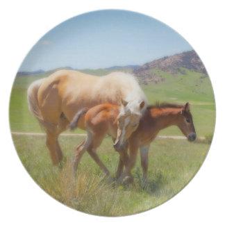 Sweet Comfort Horse Melamine Plate