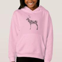 Sweet Complex Pattern Reindeer Coloring Page Art Hoodie