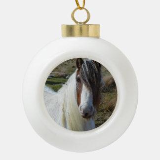 Sweet Connemera Pony Ceramic Ball Christmas Ornament