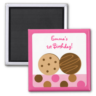 Sweet Cookie Birthday Favor Personalized Magnets