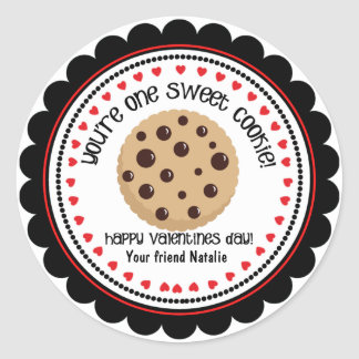Sweet Cookie Valentines Kids Classroom Stickers