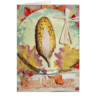 SWEET Corn Moon FAIRY Greeting CARD August w/Envlp