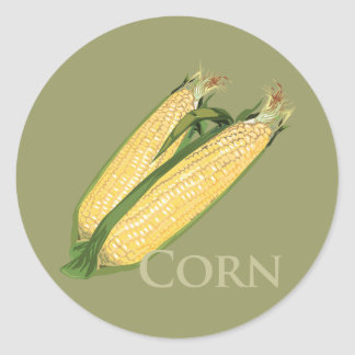 Sweet Corn Round Stickers