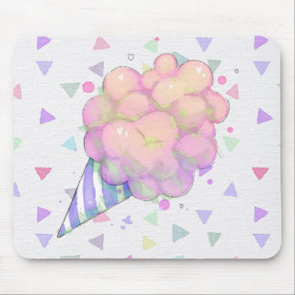 Sweet Cottoncandy watercolor Mouse Pad