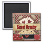 Sweet Country Apple Pie Mag 2 Inch Square Magnet