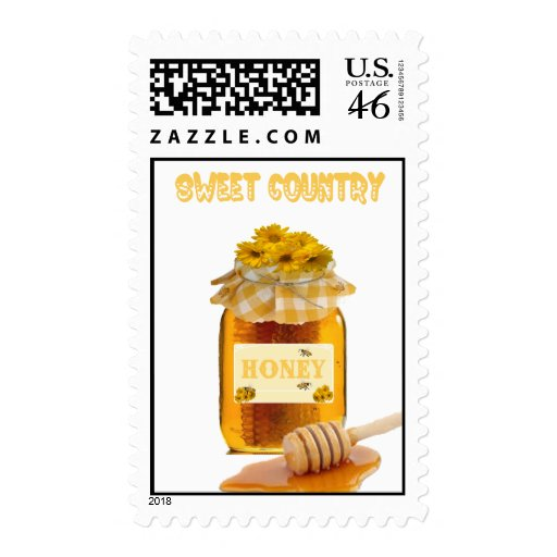 Sweet Country Honey Postage Stamps