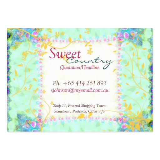 Sweet Country Patchwork big Business Card