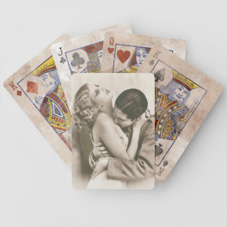 Sweet Couple Kissing Deck Of Cards