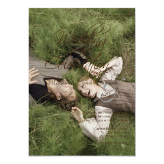 Sweet Couple Laying Grass /Wedding Invitation