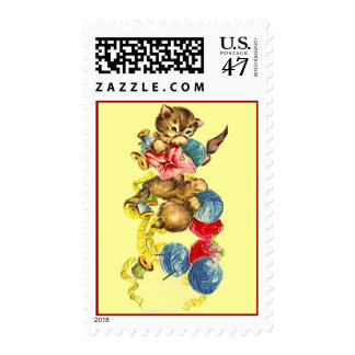 SWEET CRAFTER'S KITTEN TANGLED IN YARN STAMPS