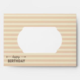 Sweet Cream Retro Happy Birthday Arrow Envelope