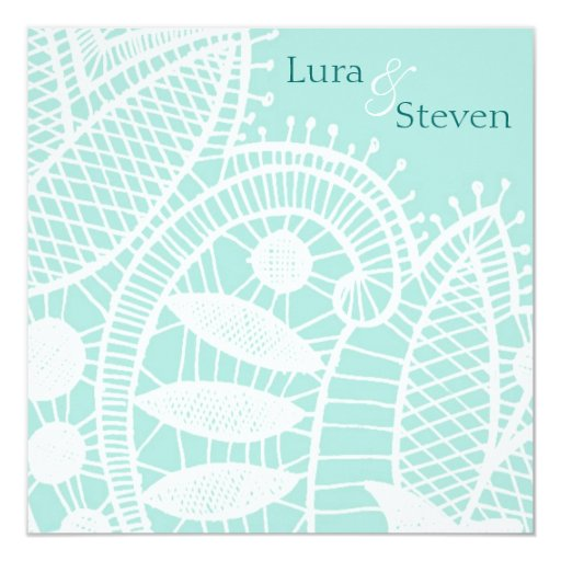 "Sweet Crochet Wedding Invitation 5.25"" Square Invitation Card"
