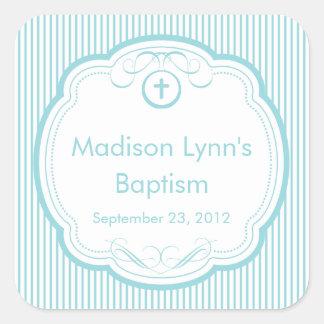 Sweet Cross In Frame Baptism Favor Seal