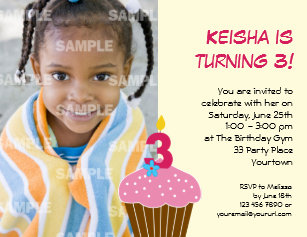 3 Years Old Invitations