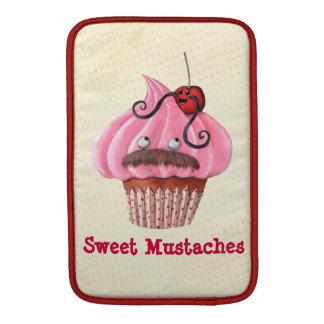 Sweet Cupcake and Mustaches MacBook Sleeves
