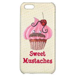Sweet Cupcake and Mustaches Cover For iPhone 5C