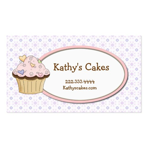 Sweet Cupcake Bakery Business Cards
