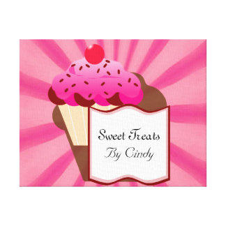 Sweet Cupcake Bakery Canvas Print