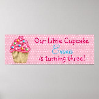 Sweet Cupcake Banner Poster